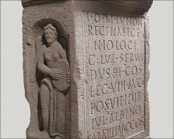 Dedication stone from the Obernburg workshop