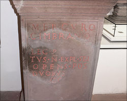 Altar with dedication inscription to Mercurius Cimbrianus