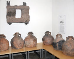 Storage vessels and cellar window from the Stockstadt vicus