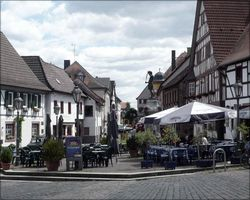 Square with timber-framed houses, Hanau-Steinheim