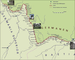 Upper German-Raetian Limes, map