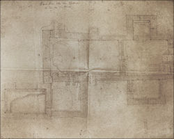 Fort bath Wörth, draft of the excavation by the Reichs-Limeskommission